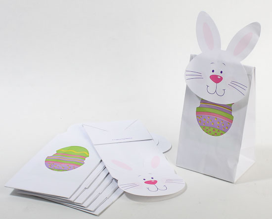 White easter bunny treat bags 24 bags gift bags favor bags item 0834443 white easter bunny decorated treat bags negle Images