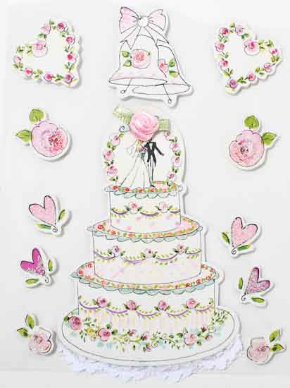 3d Wedding Themed Stickers Paper Crafting Craft Supplies