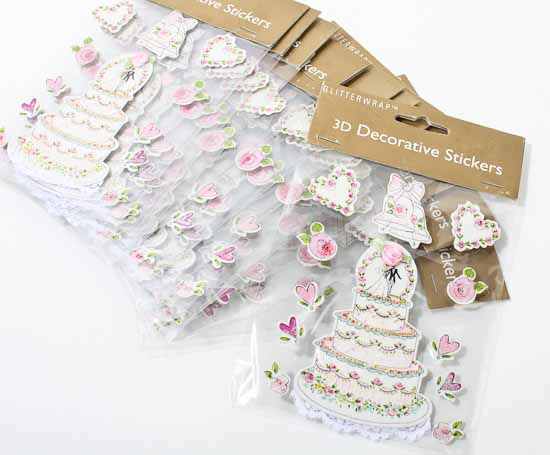 3d Wedding Themed Stickers Embellishments Paper Crafting Craft