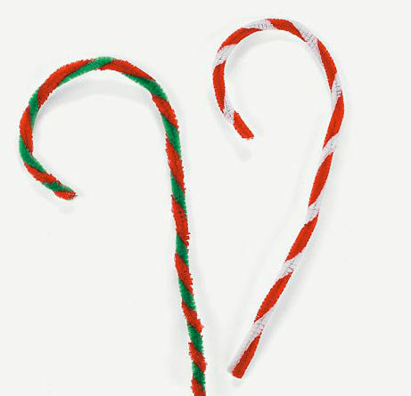 Holiday pipe cleaner candy cane craft kit pipe cleaners for Candy cane crafts for adults