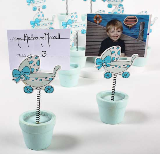Baby Shower Decorations Card Factory ~ Blue baby shower placecard holders pcs it s a boy