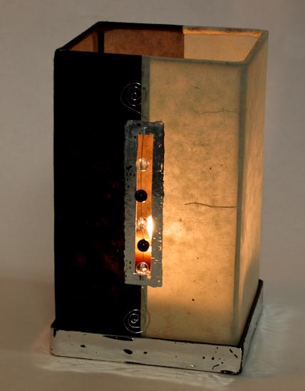 Funky handmade paper look luminary with bead and wire for Funky home decor accessories
