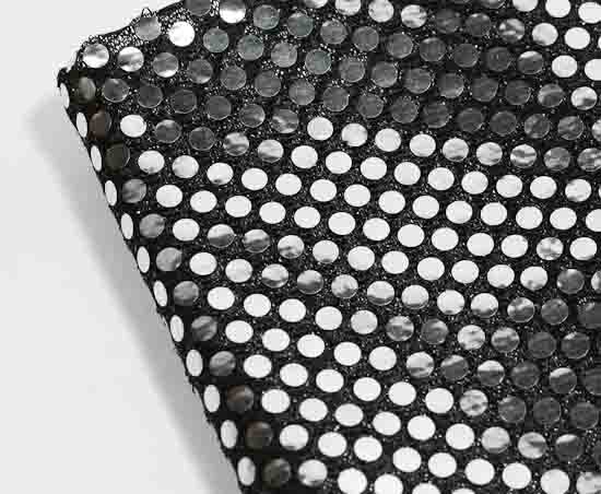 Black And Silver Spangle Shiny Knit Fabric New Items Factory Direct Craft