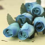 Light Blue Wooden Rose Bud Stems