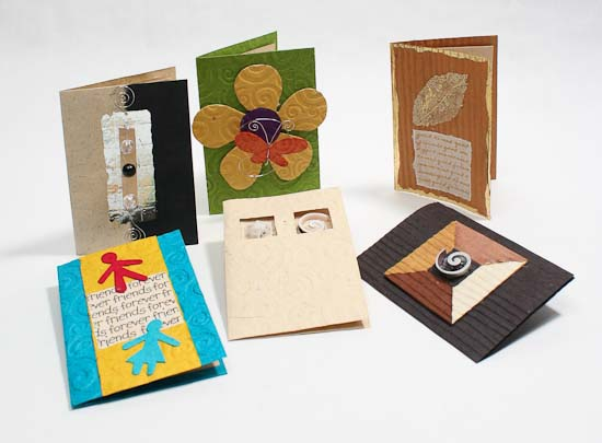 Handmade Paper Crafted Gift Cards with Envelopes ...
