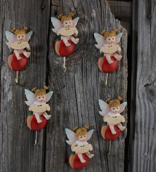 Kitchen Decor Catalogs: Set Of 6 My Little Kitchen Fairies Apple Wall Hooks