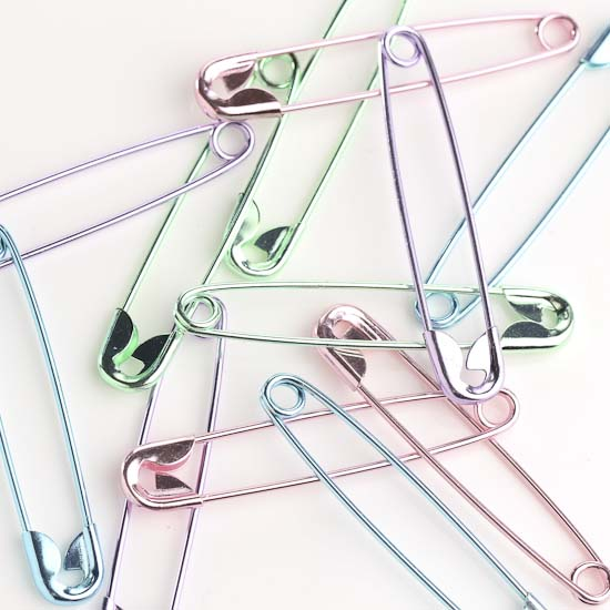 Pastel jumbo safety pins jewelry findings jewelry for Safety pins for jewelry making