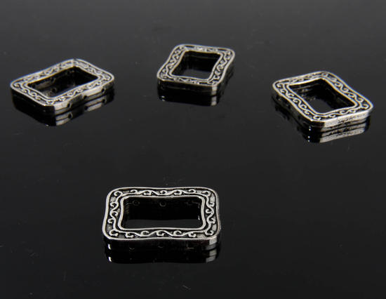 Miniature Silver Metal Rectangle Frames Paper Crafting