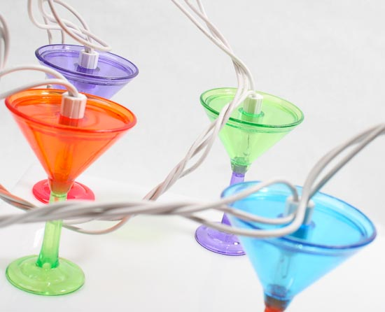 10ct Martini Glass Electric Patio, Garden & Party String Lights - Lighting - Christmas and ...