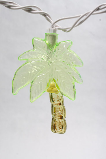 10 Ct. Electric Palm Tree Party Lights - String Lights - Lighting - Home Decor