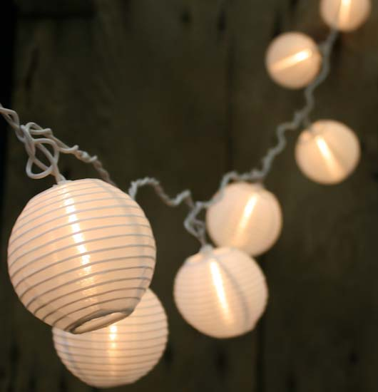 Electric White Chinese Lantern Party String Lights - New Items