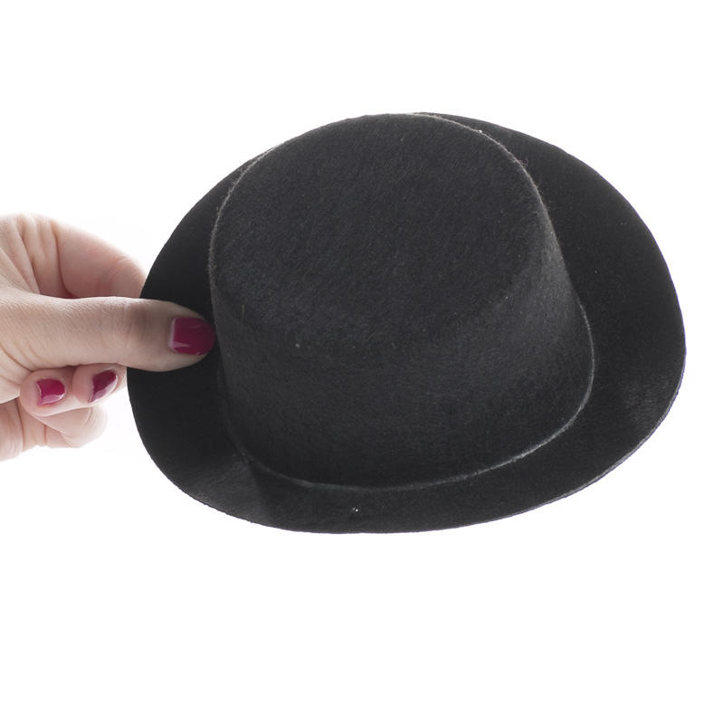 black felt top hat doll hats doll making supplies