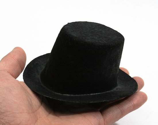 Mini black felt top hat doll hats doll making supplies for Tiny cowboy hats for crafts