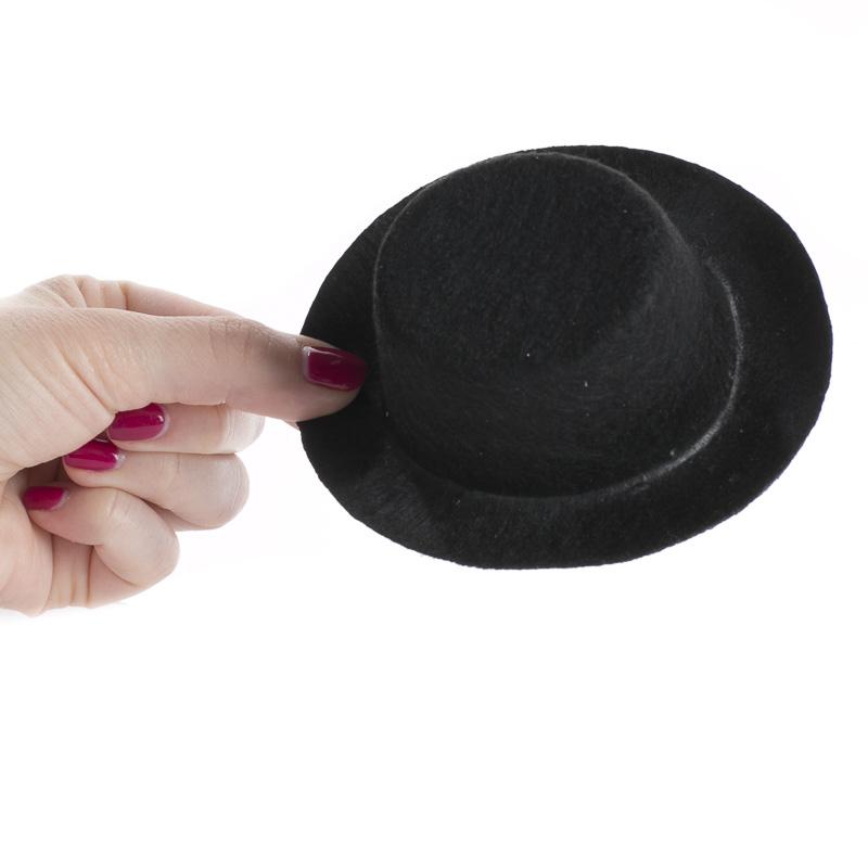 Mini Black Felt Top Hat - Doll Hats - Doll Making Supplies - Craft ...