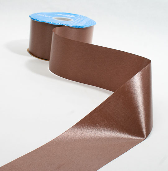 2 3 4 chocolate brown flora satin ribbon 100 yards for Craft ribbons and trims