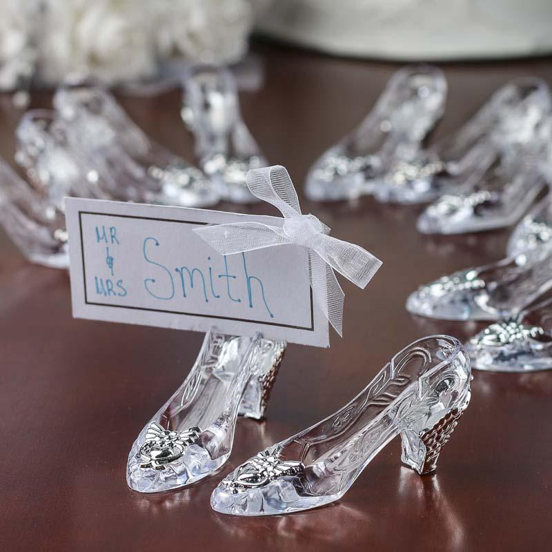 Cinderella Wedding Theme Ideas: Cinderella's Slipper Placecard Holders