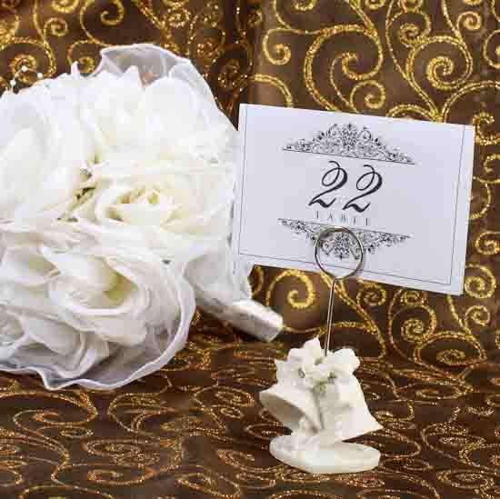 Bell Wedding Resin Placecard Holder