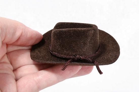 Miniature Brown Cowboy Hat Doll Hats Doll Supplies