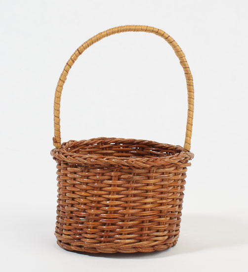 Tiny Wicker Basket With Handle : Small round wicker basket with handles set of sales