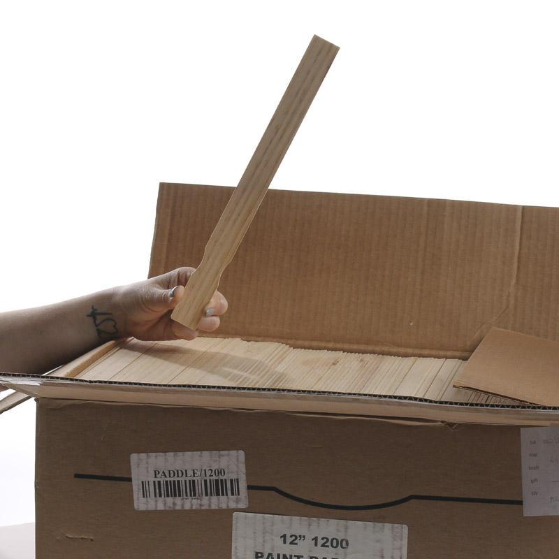 Wholesale Bulk Case Of Unfinished Wood Paint Stir Sticks