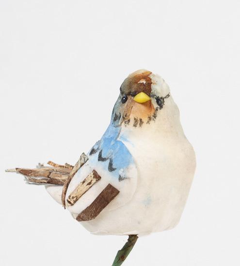 Artificial blue jay mushroom birds birds butterflies for Fake birds for crafts