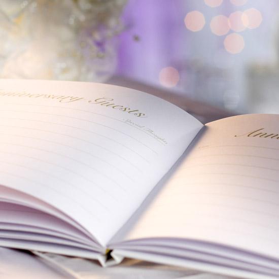 "Standard Wedding Gift Amount: ""50th Anniversary"" Guest Registry Book"