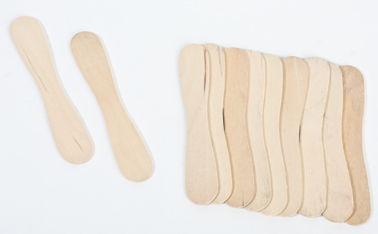 Small Unfinished Craft Wood Spoons Popsicle Sticks And