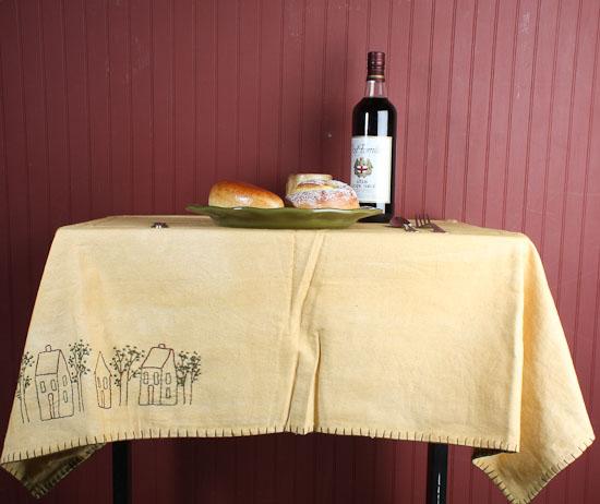 Primitive Quot Say Please Quot And Village Reversible Tablecloth