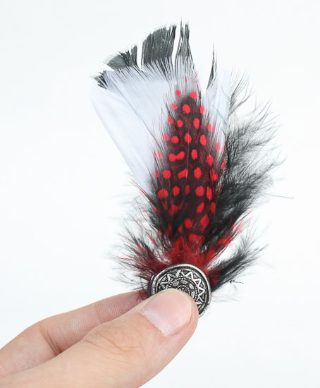 Real dyed feather brooch pin feathers boas basic for Where can i buy feathers for crafts
