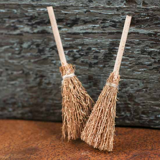 Miniature Natural Straw Brooms Miniatures View All
