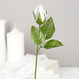 White Artificial Rosebud Picks