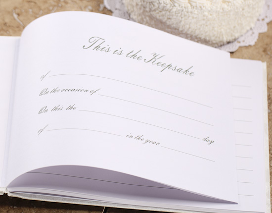 heart themed calla lily wedding guest registry book