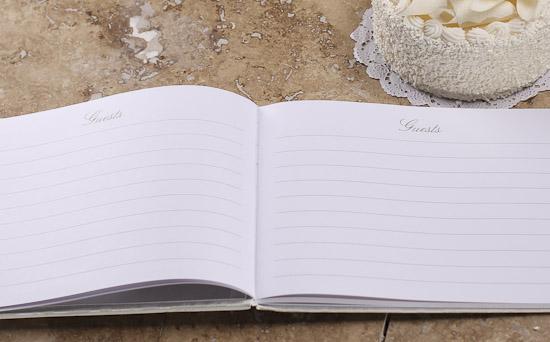heart themed calla wedding guest registry book wedding
