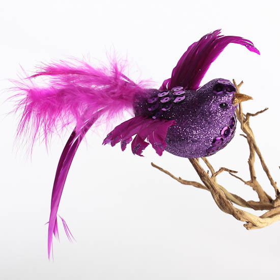 Fancy feathered artificial bird birds butterflies for Feathered birds for crafts