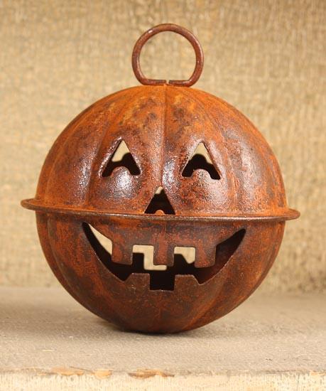 Rusty Tin Pumpkin Bell Bells Basic Craft Supplies