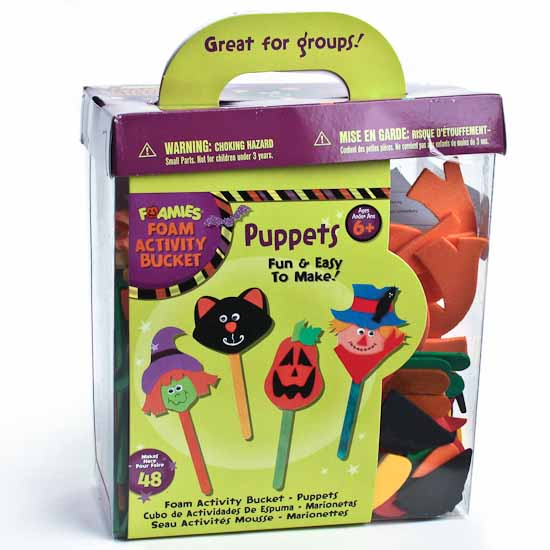 kids halloween craft foam puppet group kit kids craft. Black Bedroom Furniture Sets. Home Design Ideas