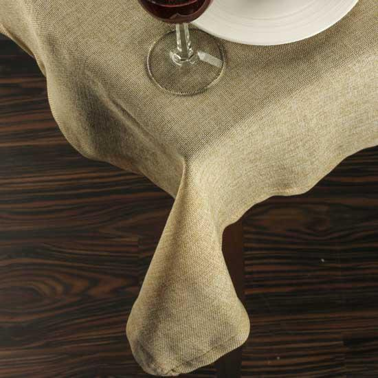 Natural Designer Square Burlap Table Cloth Fabric And Material