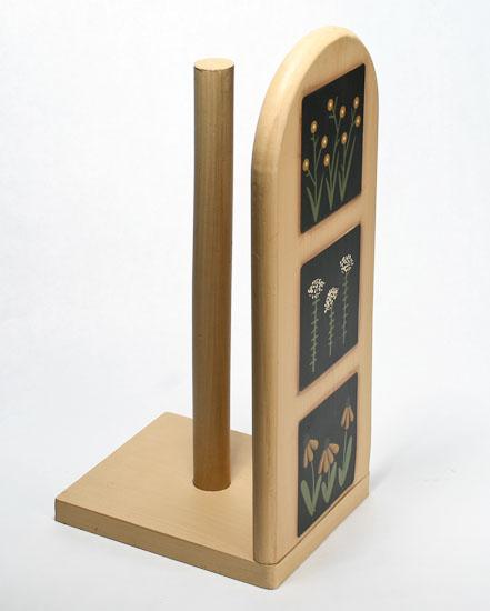 black eyed susan primitive wood kitchen paper towel holder. Black Bedroom Furniture Sets. Home Design Ideas