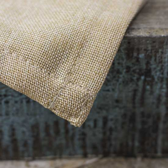 Natural Designer Burlap Table Runner - Textiles and Linens ...