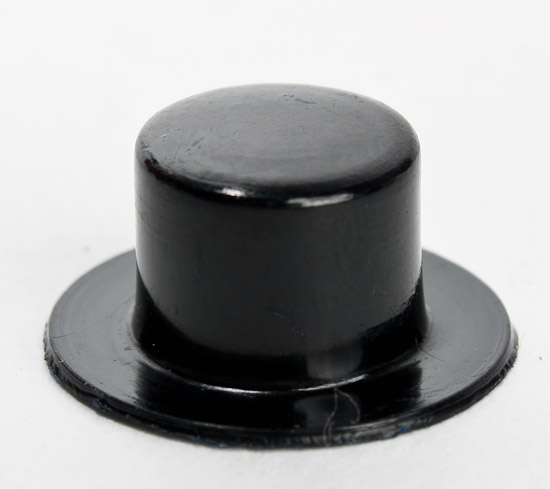 Miniature black acrylic top hats doll hats doll making for Tiny cowboy hats for crafts