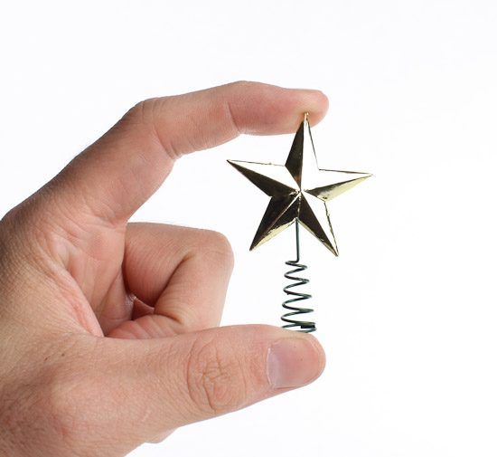 Miniature Gold Star Tree Toppers - Christmas Miniatures ...