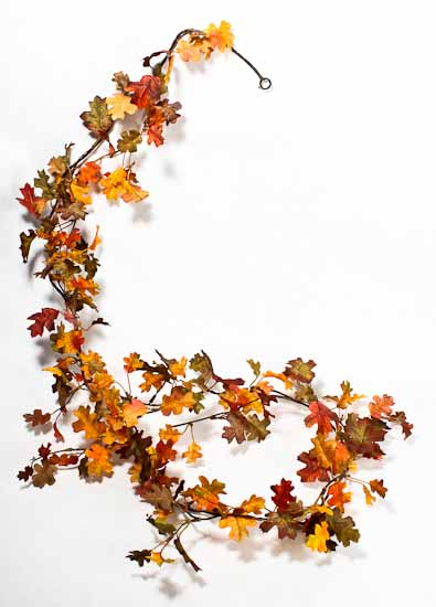Miniature Artificial Oak Leaf Garland Garlands Floral