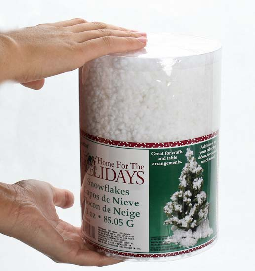 Fluffy fake snow table shelf decorations christmas and