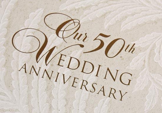"Hallmark Wedding Anniversary Gifts: ""Our 50th Wedding Anniversary"" Guest Book"