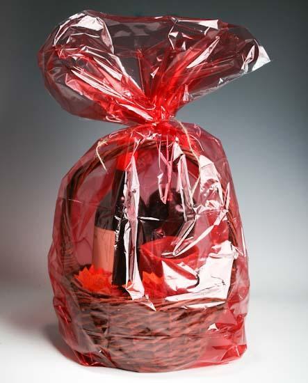 Red basket cellophane bags pcs basic craft