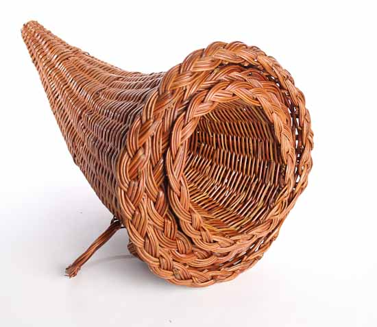 horn of plenty cornucopia baskets thanksgiving holiday