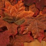 Copper Glitter Artificial Maple Leaves