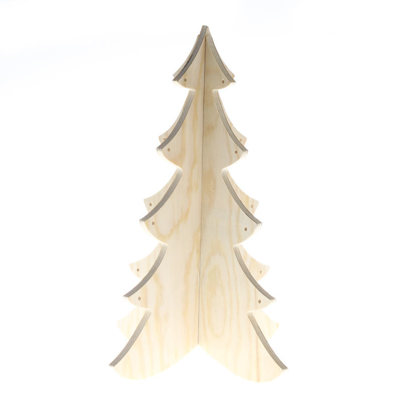 Unfinished wood dimensional christmas tree holiday wood for Wooden christmas cutouts