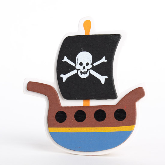 Painted Wooden Pirate Ship Cutout Wood Cutouts