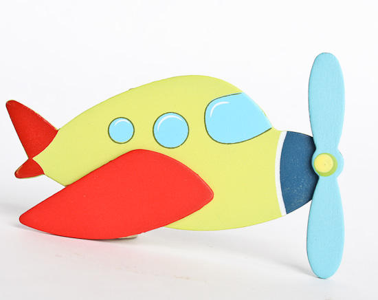 Painted Finished Wooden Airplane Cutout Wood Cutouts